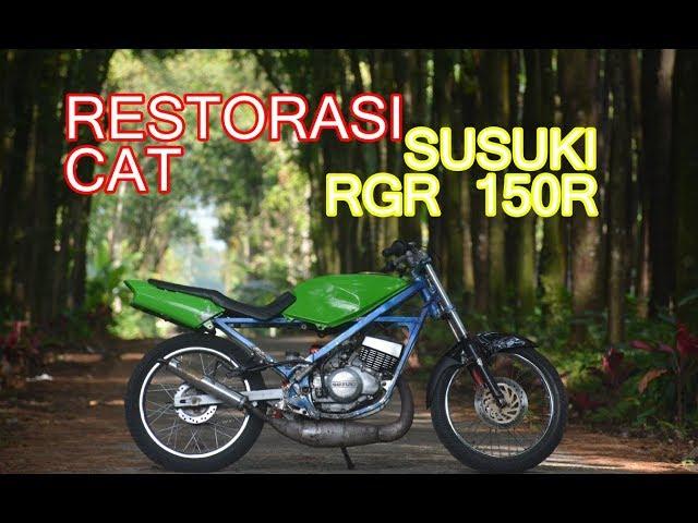 hapus dan restorasi cat susuki RGR 150R