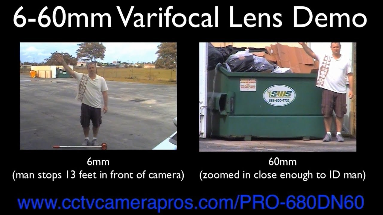 6-60mm Varifocal Lens Comparison using Box CCTV ...