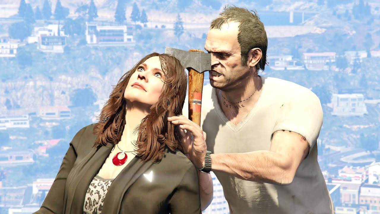 GTA V PC Trevor Kills Amanda (Editor Rockstar Movie Cinematic Short Film)