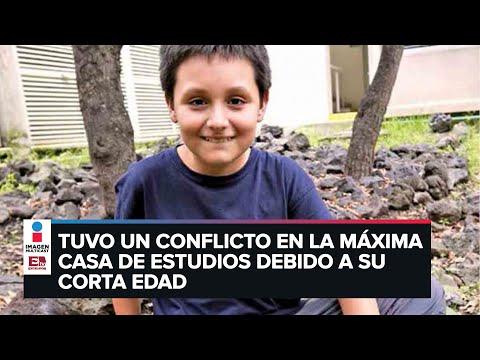 Por acoso en la UNAM, niño genio opta por otra carrera en la Anáhuac