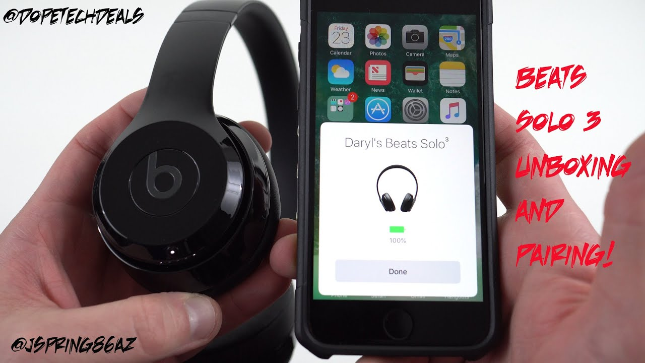 Beats Solo 3 Wireless Jet Black Unboxing and Pairing Test - YouTube 01fe943ce094