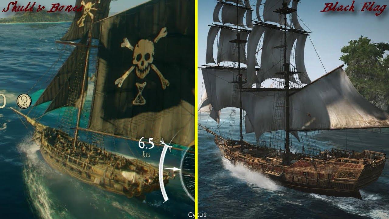 Skull And Bones Vs Ac4 Black Flag Graphics Comparison Youtube