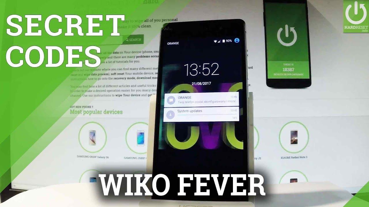 Secret Codes in WIKO Fever - Hidden Mode / Advanced Options