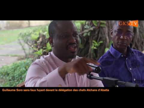 Guillaume Soro sans faux-fuyant devant la délégation des chefs Atchans d'Abatta