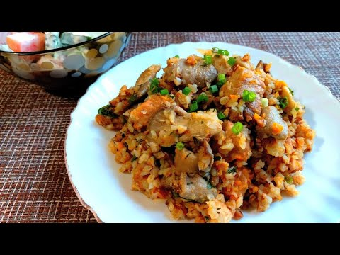 Гречка с мясом и грибами в мультиварке рецепт