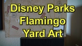 Disney Parks Flamingo Yard Art