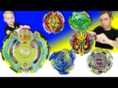 First Beyblade Burst from Hasbro: Qetziko Q2 against five cool beys Takara Tomy