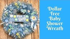 Wonderful Wreaths: Dollar Tree Baby Shower Wreath