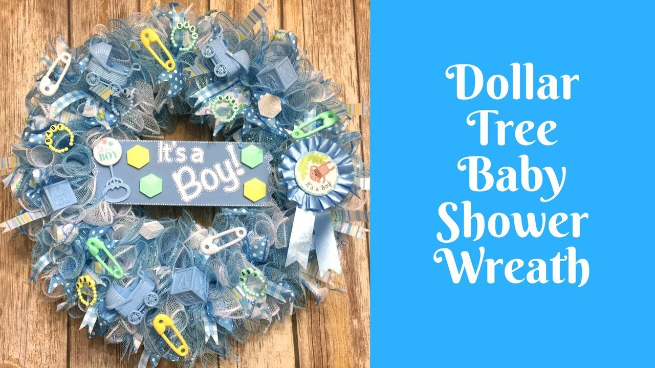 Wonderful Wreaths Dollar Tree Baby Shower Wreath Youtube