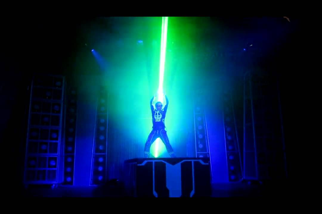 Laser Show In Disney California For Tron Legacy Movie