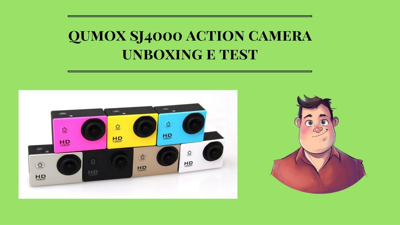 qumox sj4000 action cam unboxing e test youtube. Black Bedroom Furniture Sets. Home Design Ideas