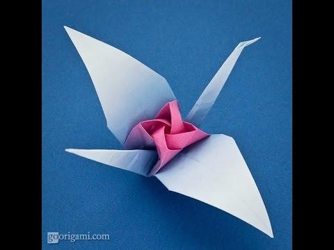Origami Rose In A Crane By Satoshi Kamiya Youtube
