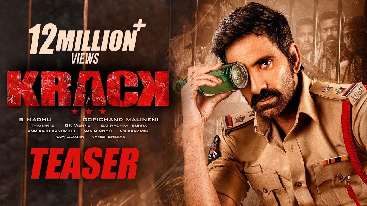 #Krack Movie Teaser - Raviteja, Shruti Hassan | Gopichand Malineni | Thaman S
