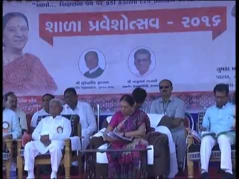 Gujarat CM at Gumada Girls Primary School in Patan for Shala Praveshotsav & Kanya Kelavani 2016
