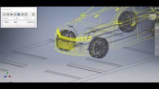 3d моделирование | Работа подвески автомобиля  Project 1 | Autodesk Inventor car simulation