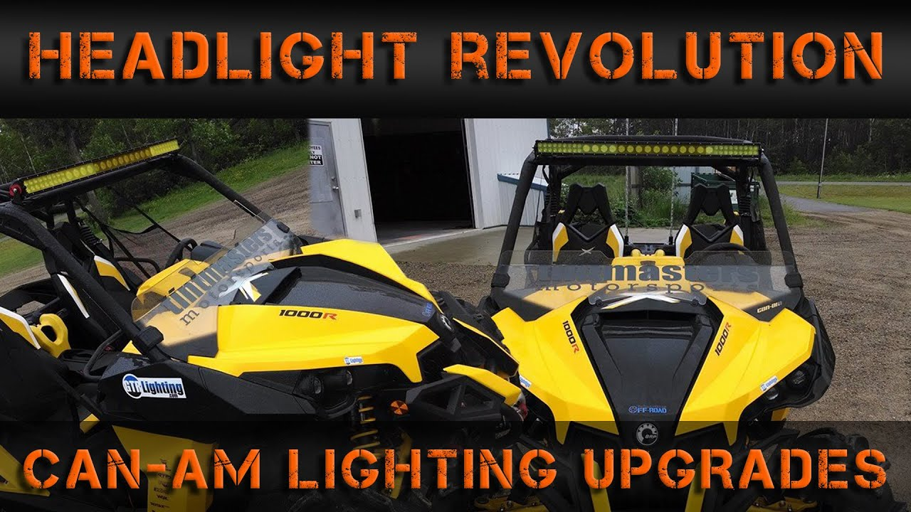 maxresdefault can am maverick 1000xmr lighting overhaul headlight revolution can am maverick led light bar wiring harness at soozxer.org