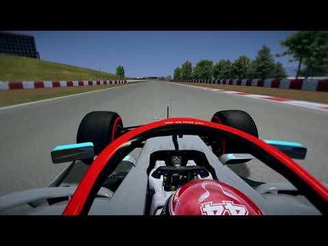 rFactor F1 2019 v0.2 Alpha - Lewis Hamilton Onboard at Catalunya