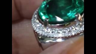Emerald Colombia 7.95ct Minor Ring gold diamond certified