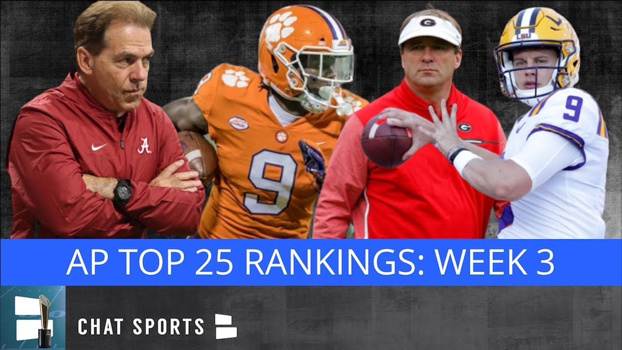 College football rankings: Week 3 Top 25 polls for the 2019 season