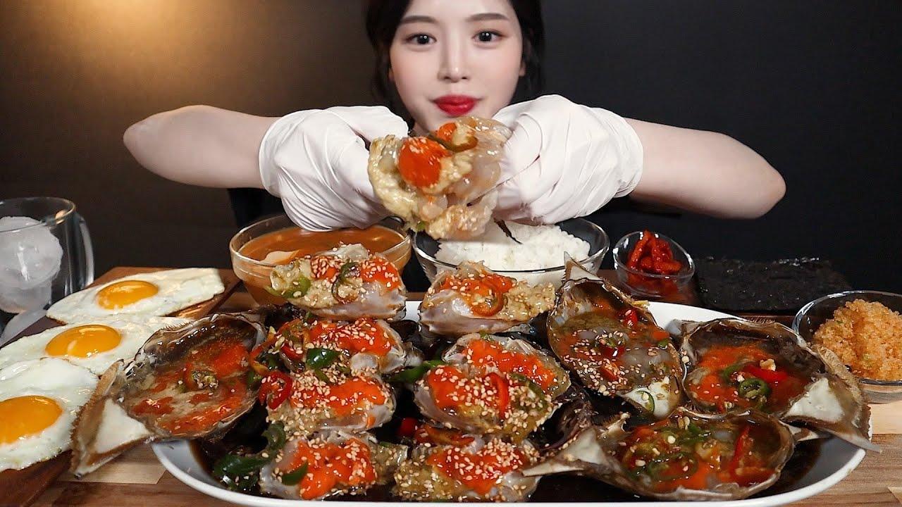 SUB)알이 꽉~찬 밥도둑 간장게장 먹방 리얼사운드 Soy Sauce Marinated Crabs Doenjangjjigae mukbang ASMR
