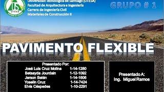 Materiales de construccion II UTESA Pavimento Flexible y Pavimento Rigido