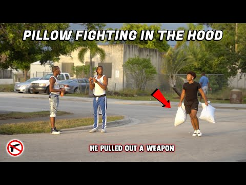 PILLOW FIGHTING IN THE HOOD! | *Gone Wrong*