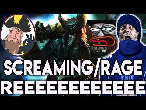 Tobias Fate FUNNY SCREAMING/RAGE REEEEE COMPILATION!   League of Legends