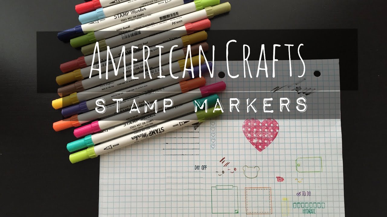 American Crafts Stamp Markers For Planner Stamps