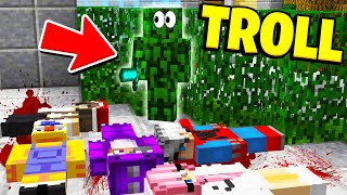 I ACTUALLY GOT AWAY WITH THIS... (Minecraft Murder Mystery Camo Trolling)