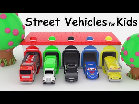 Thumbnail: Car for kids Colors for Children to Learn with Street Vehicles Colours for Kids to Learn video