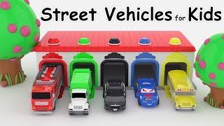 Car for kids Colors for Children to Learn with Street Vehicles Colours for Kids to Learn video