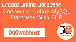 Connect to Online MySQL Database With PHP || 000webhost [Hindi/Udu]