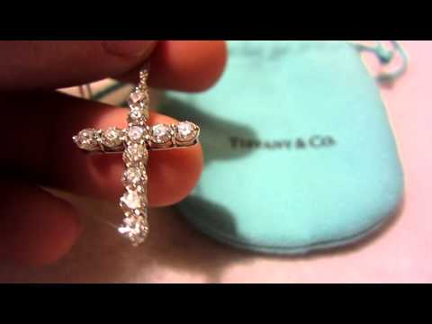 Tiffany's Cross Pendant (Diamonds & Platinum)