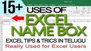 15+ Excel Name Box Tips In Telugu by Learn Computer Telugu Channel