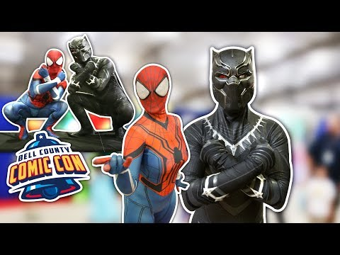 BLACK PANTHER VS SPIDER-MAN VS Bell County Comic Con 2018