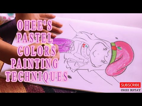 Pastel colors Painting Techniques for Children | Fun Art Learning Colors Video for Children |