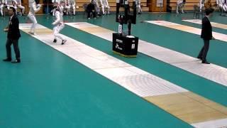 14.11.13 32강 - 김단(청주대) vs 한상규(성북구청) - 2014펜싱 플뢰레오픈 남자부.