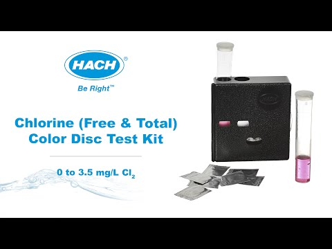 Hach Total Chlorine Color Disc Test Kit