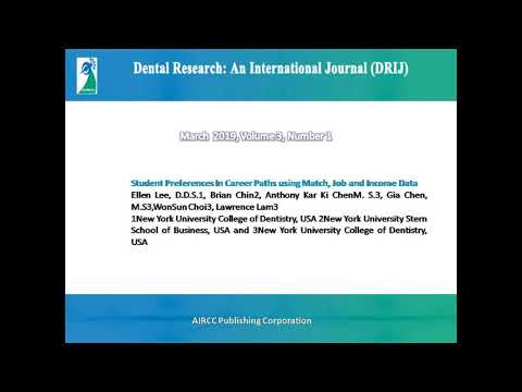 Dental Research: An International Journal (DRIJ)