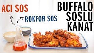 Fırında Acılı Tavuk Kanadı Tarifi Buffalo Soslu | Acı Chili Sos ve Rokfor Sos Yapımı