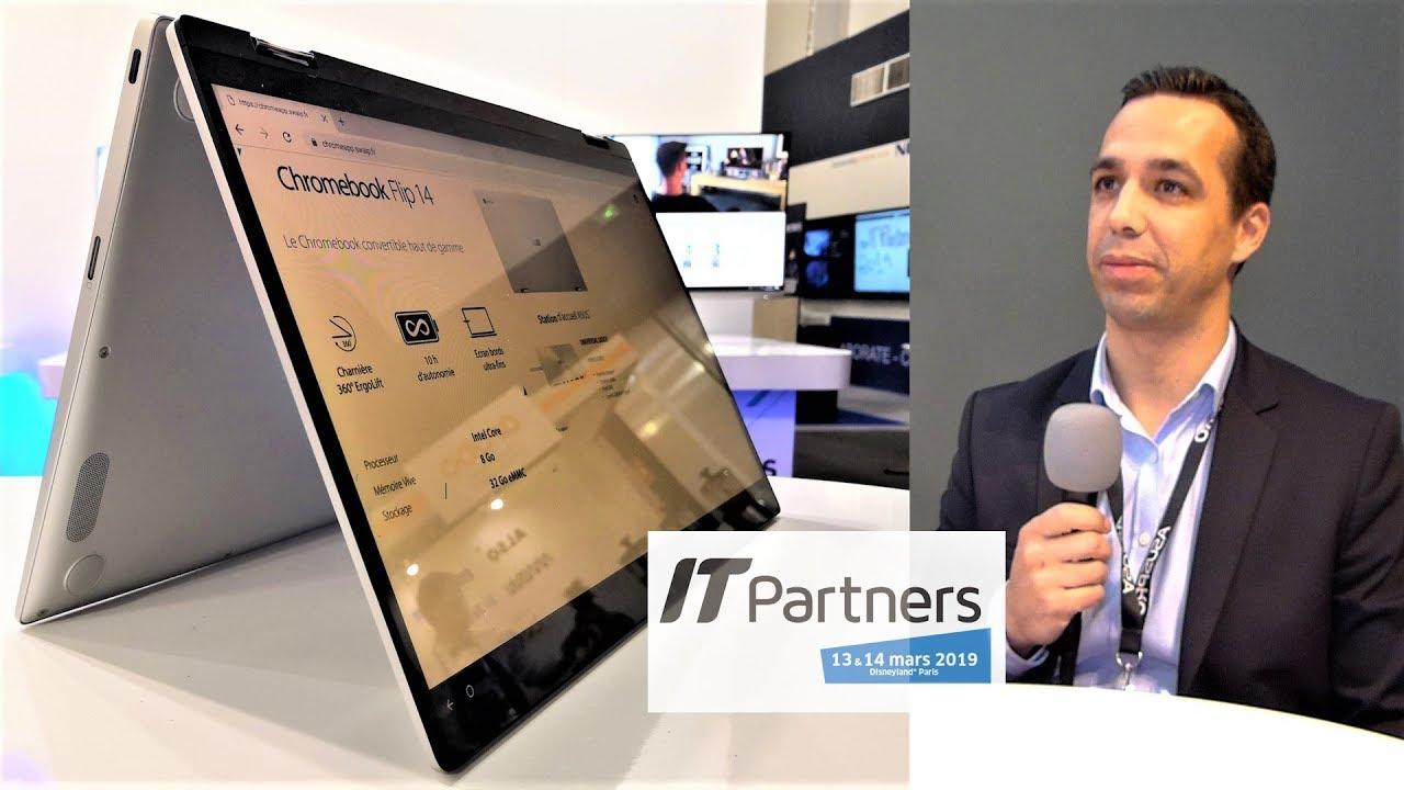 Asus : présentation du Chromebook Flip C434 à l'IT Partners 2019 (Clubic)