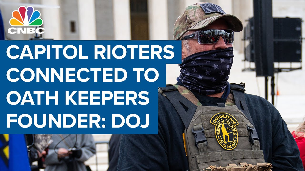 DOJ reports Oath Keepers founder was in direct contact with Capitol rioters - YouTube