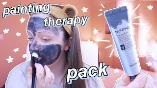 TONYMOLY Painting Therapy Pack DEMO + REVIEW (Black Color Clay) | maevely