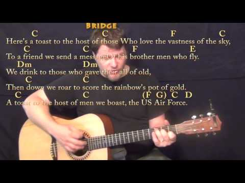 U.S. Air Force Song - Strum Guitar Cover Lesson in G with Chords/Lyrics