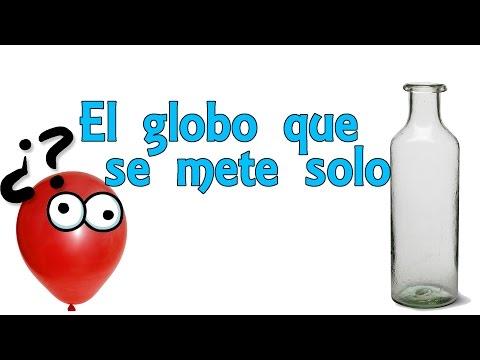 El Globo Que Se Mete Solo (Experimentos Caseros Para Niños)