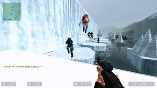 Counter Strike Source Zombie Escape mod online gameplay on Icecap Escape