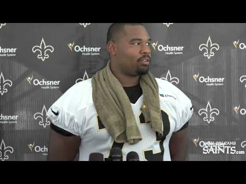 Jahri Evans talks about Saints Training Camp