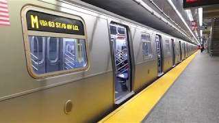IND 2nd Ave Line: R160A-1 M Train at 96th St-2nd Ave (Weekend-G.O.)
