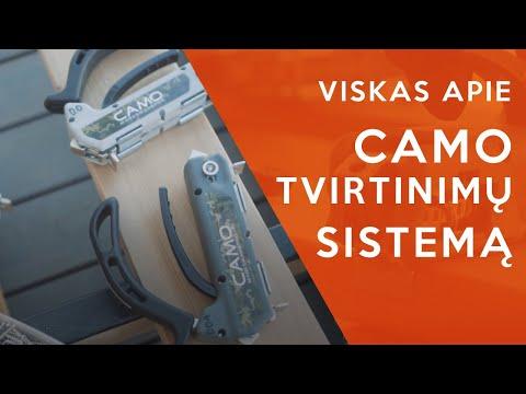 CAMO tvirtinimų sistema   CAMO Marksman įrankis   Kaip tvirtinti terasines lentas   MDS Terasos