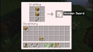 How to craft things out of wood minecraft-[EASY]